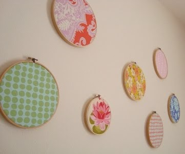 My Artsy Fartsy Life: Embroidery Circle Fabric Art