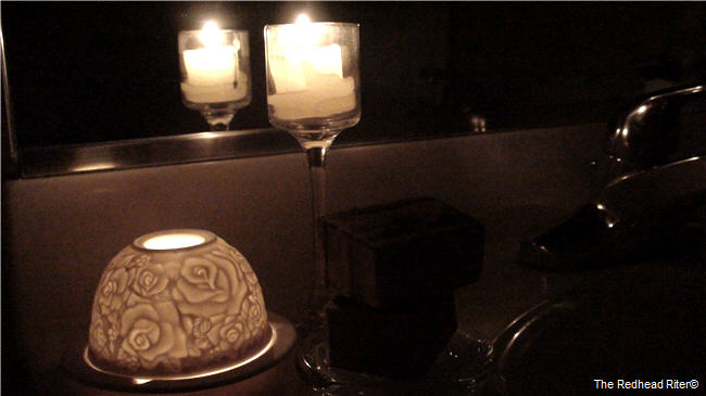 candlelight bath or shower