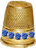 thimble with sapphires