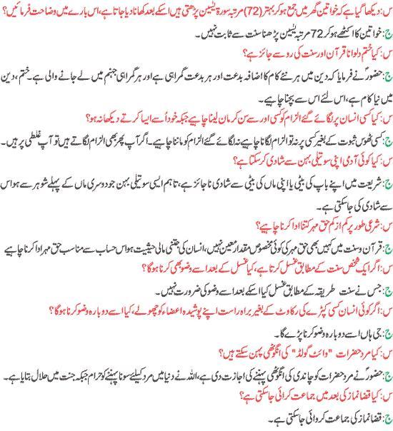 Urdu Islamic Question Answers 14 Islami Sawal o Jawab 14 - Urdu
