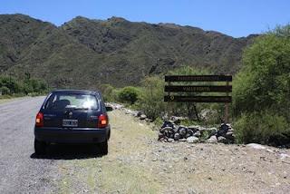 La entrada al parque provincial