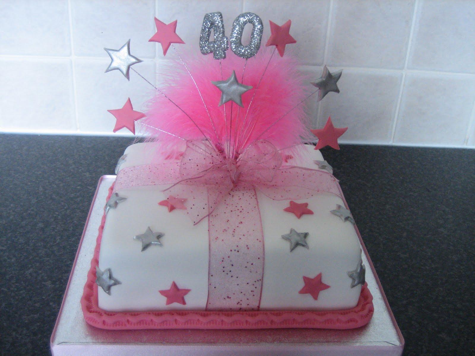 Sarah T Cakes 40th Birthday Cake