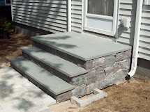 Concrete Steps With Stone Veneer