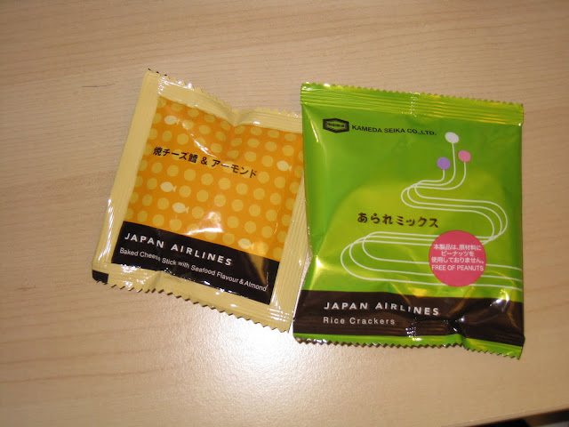 JAL Business Class snacks