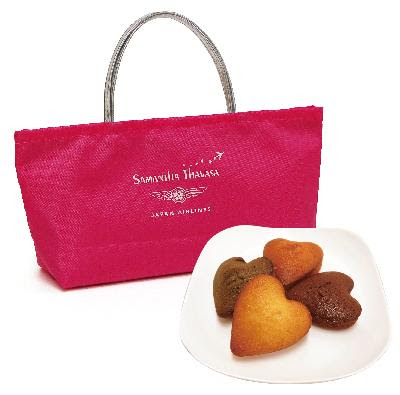 Tiny cute pink tote with cookies. Good for putting wallet or use as a bag inside a bag. JPY 2,000 (tax included)