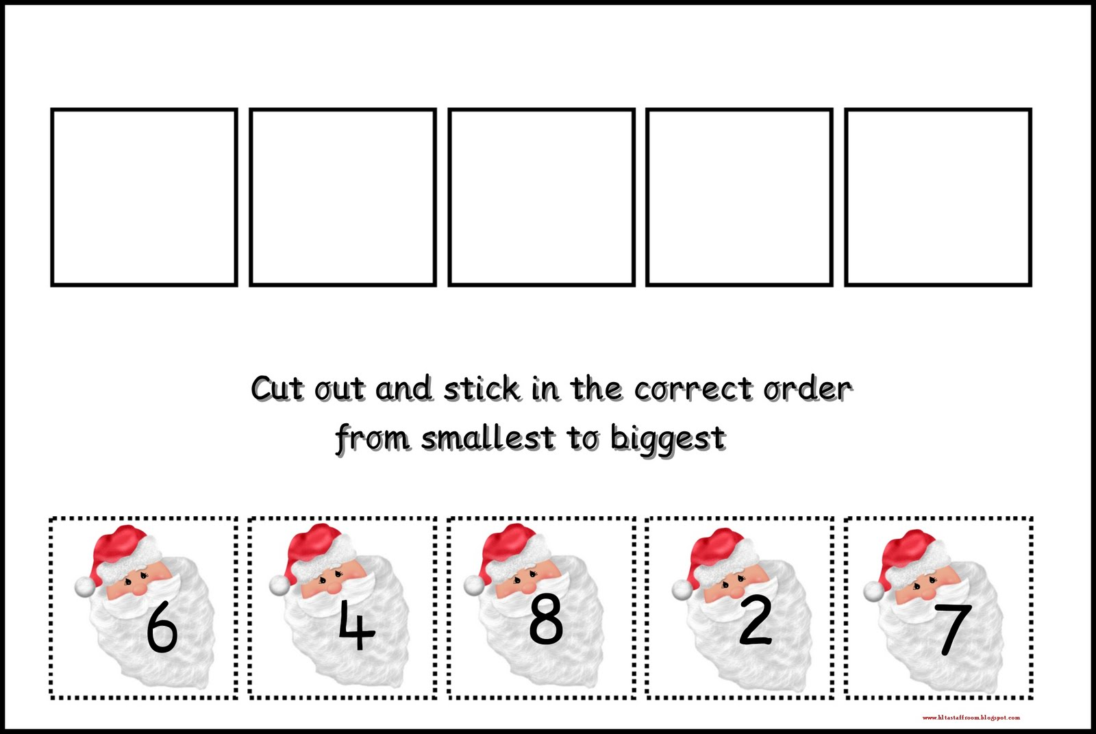 Debbie S Resource Cupboard Cut And Stick Number Ordering