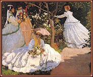 Mujeres en el jardín, por Claude Monet