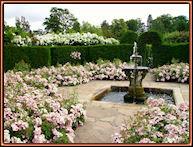 Jardín y fuente. Castillo de Hever, Inglaterra