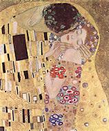 El beso (detalle), por Gustav Klimt