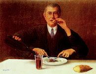 El mago, por Magritte
