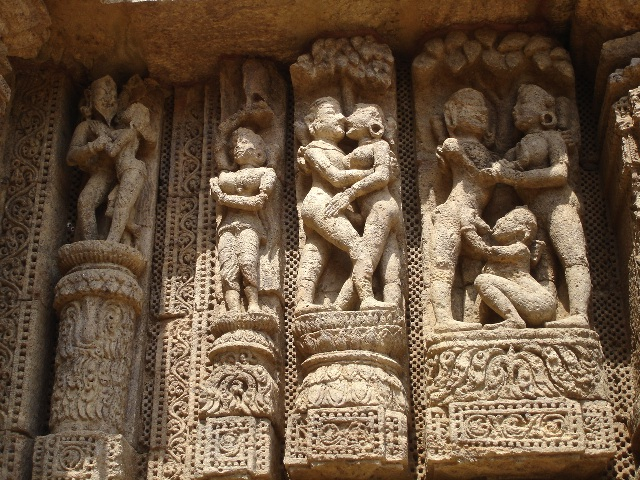 sex erotic art carving konark sun temple group