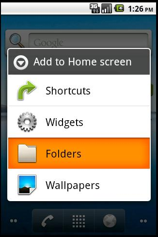 Creating LiveFolder in Android