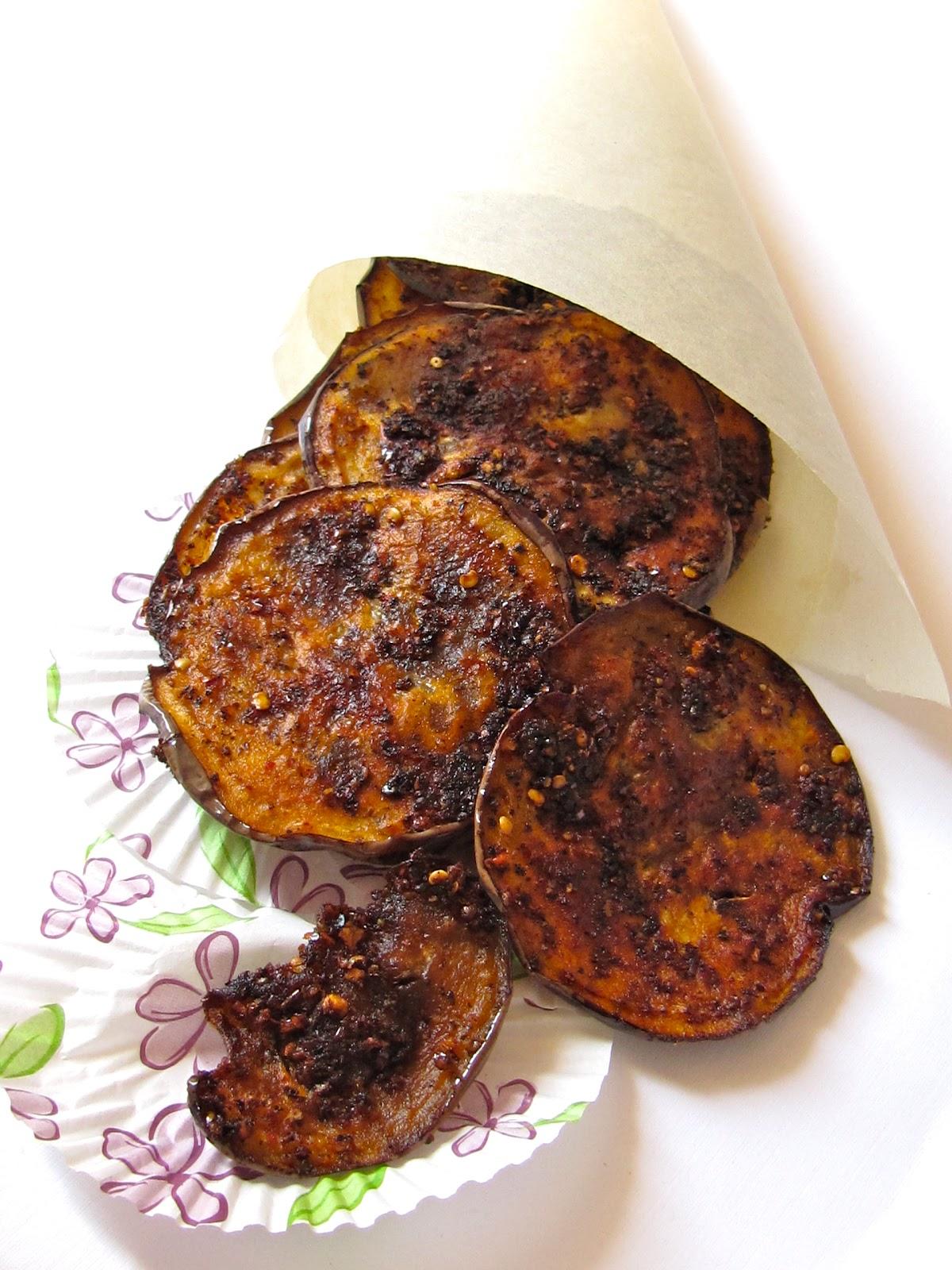 Plateful Spiced Eggplant Fry Vazhuthananga Porichathu