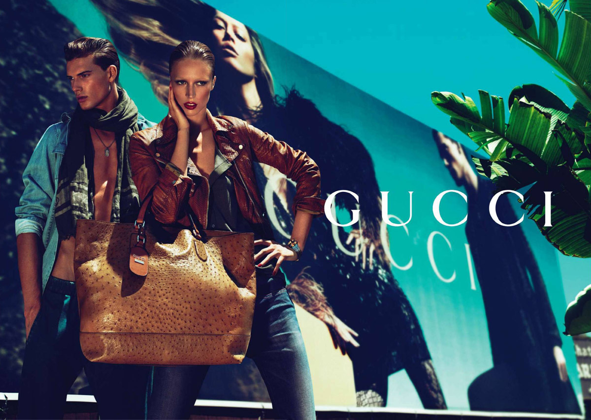 8ab7d05604 Gucci: Ad Campaign: Resort 2010: Raquel Zimmermann and Nikola Jovanovic