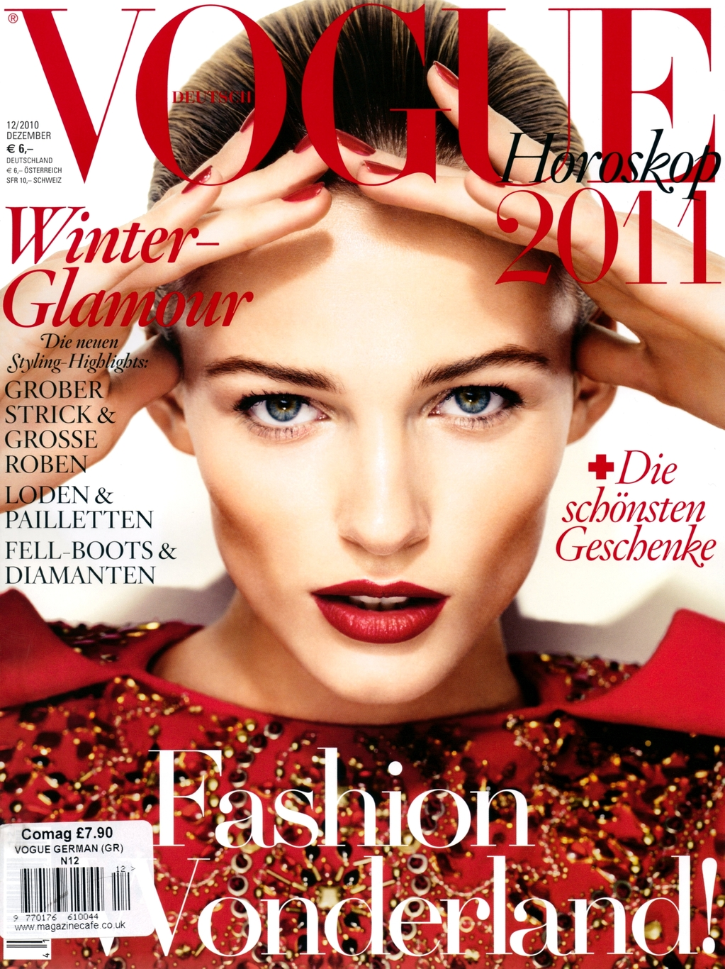vogue edita vilkeviciute december germany covers lubomirski alexi german magazine winter models anna italian wintour magazines smile deutsch november throughout