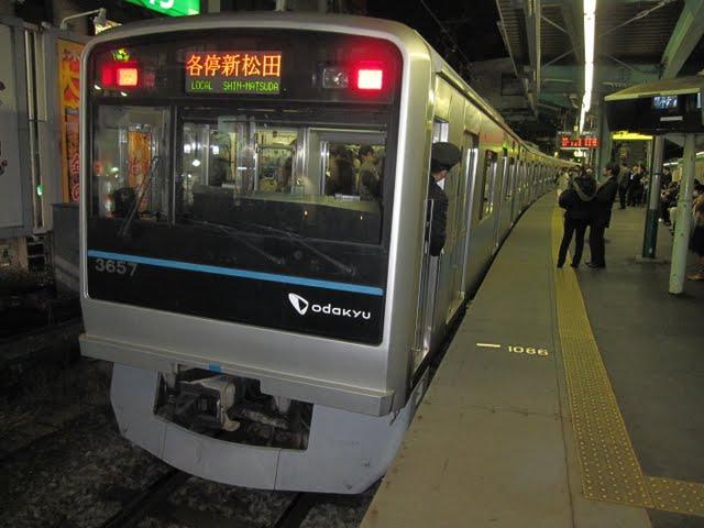 小田急線 各停 新松田行き 3000形(平日5本運行)