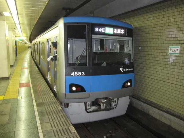 小田急線 準急 本厚木行き 4000形(平日2本運行)