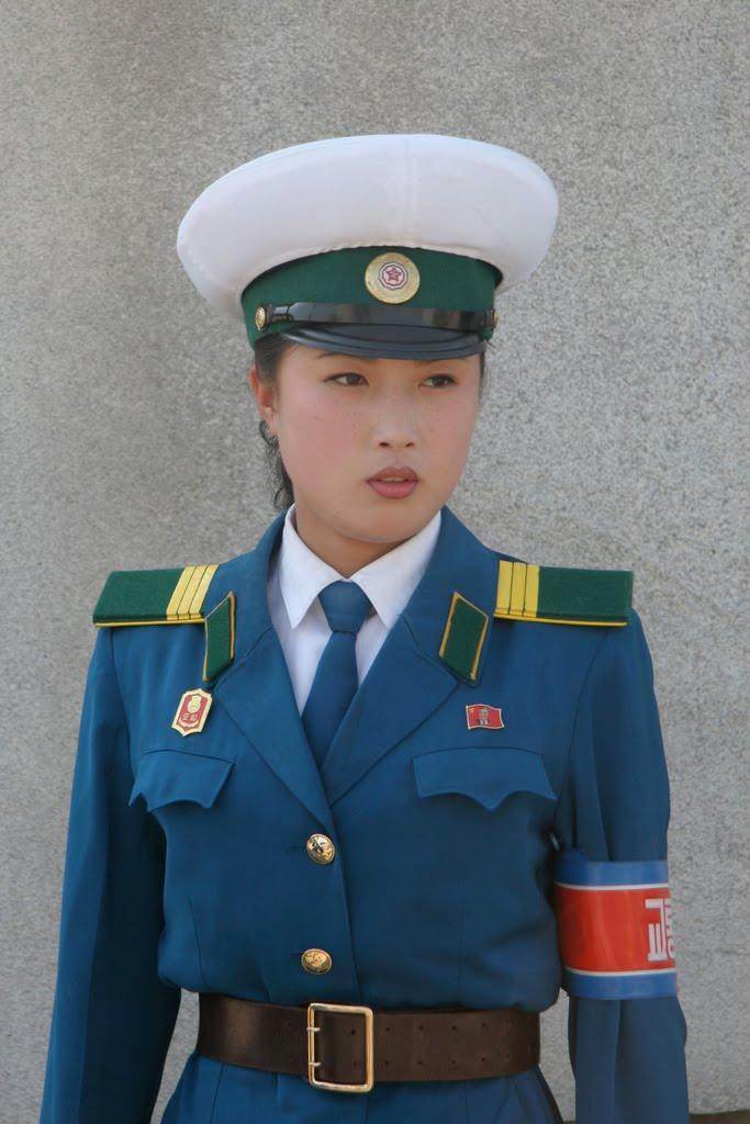North korean traffic girl
