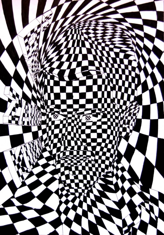 optical illusions cool illusion illusies daily op amazing drawing gezichtsbedrog face fun optische funny ramiz posted inside
