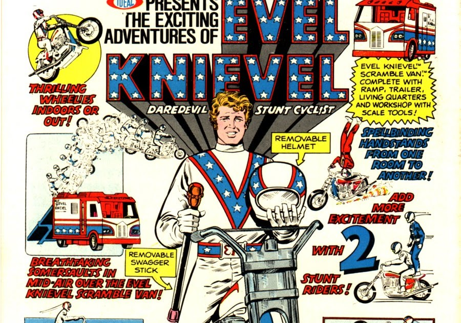 Vintage Evel Knievel In His: Yesterville Toy Room: Vintage Ads: Evel Knievel