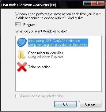 clamwin portable antivirus para pen drive e usb flash