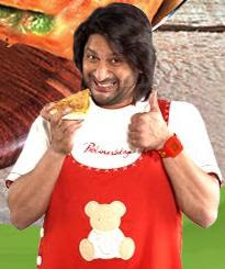 Arshad varsi promoting Domino's Stuffed crunch pizza