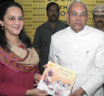 Karnataka Governor Rameshwar Thakur releasing the book