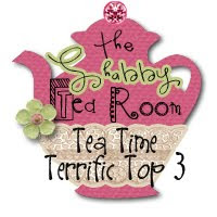 I made the Terrific Top Three in the Shabby Tea Room Challenge week#20
