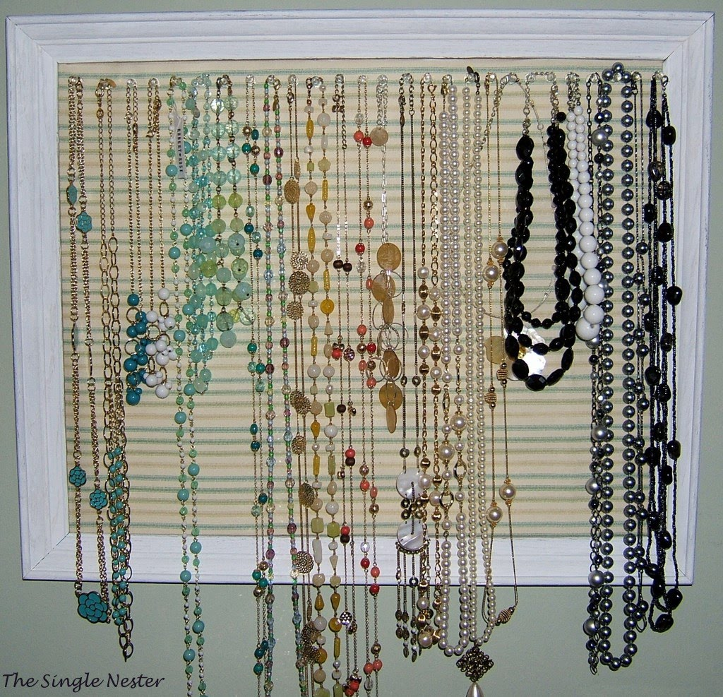 Another Picture Frame Necklace Organizer and Gifts for my Niece