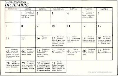 La otra esquina: Calendario Cósmico