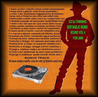 Dj thikinho é so Pankada: CD SERTANEJO REMIX SOUND VOL- 4