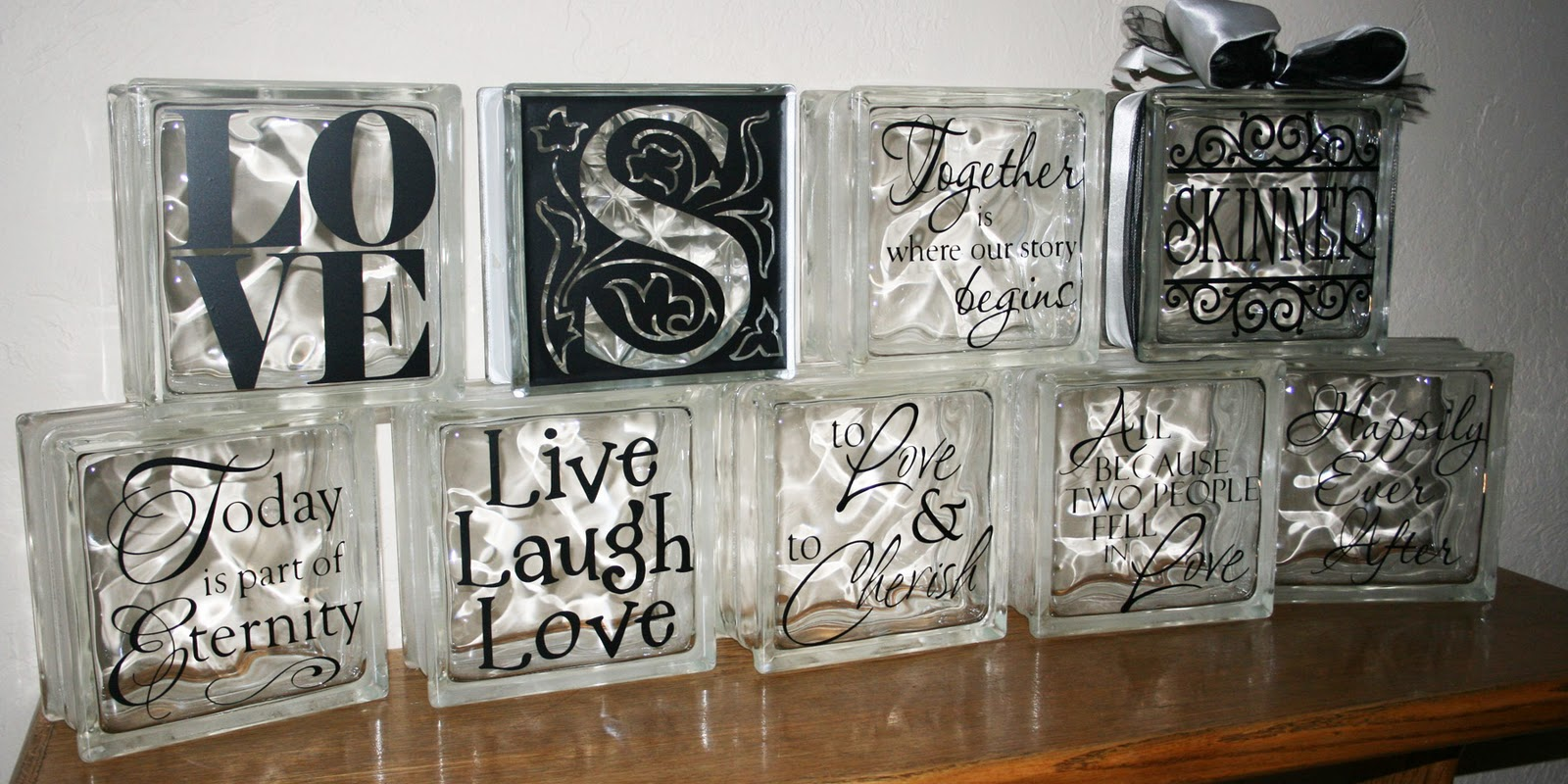 Deco Block Ideas Th Ink Ing Of You A Glass Block Gift Idea Diy