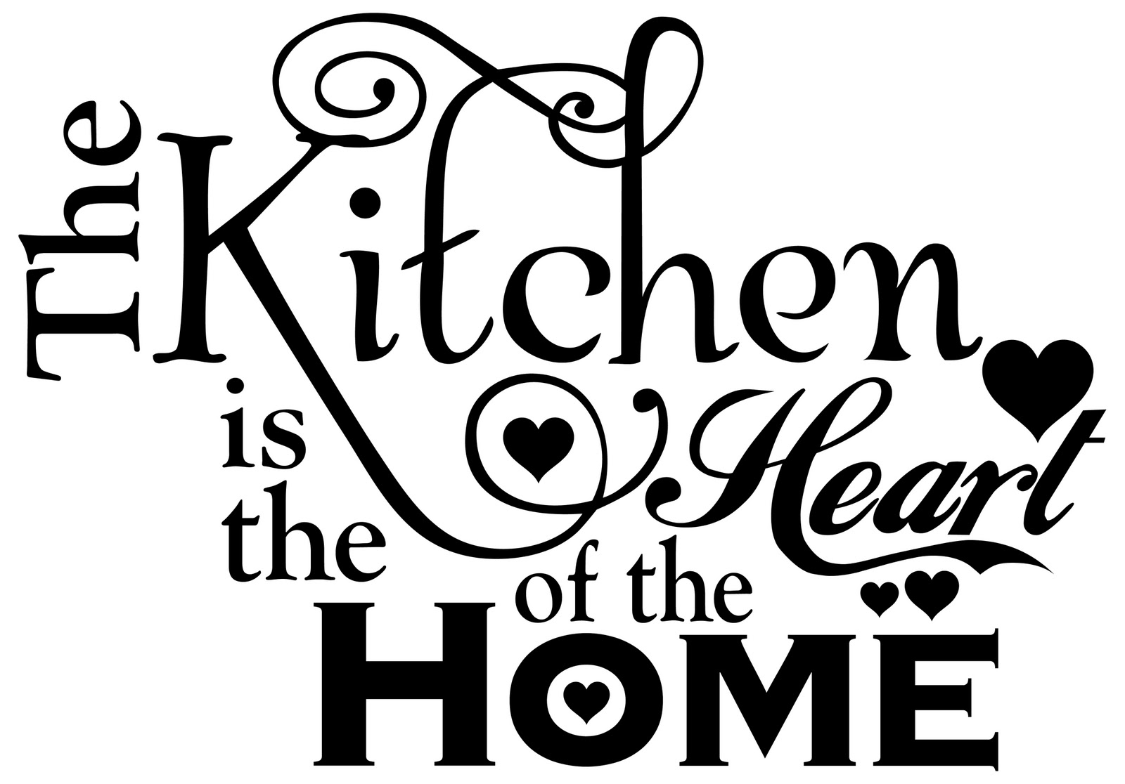Two Chicks And A Vinyl Cutter: The Kitchen Is The Heart Of