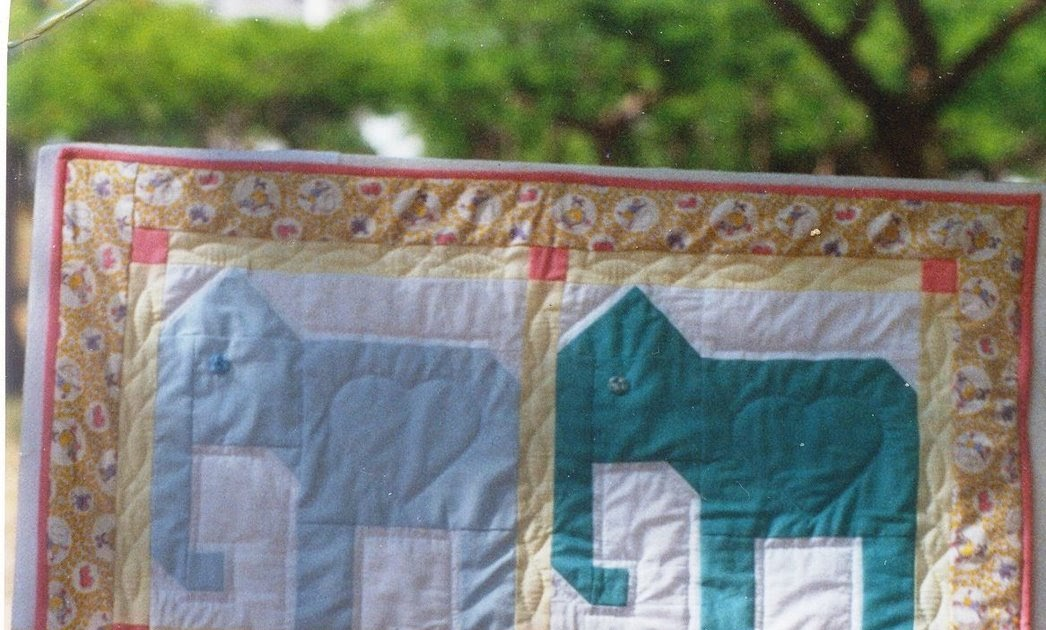 Milk And Honey Quilts Free Pattern Elephant Baby Quilt Block