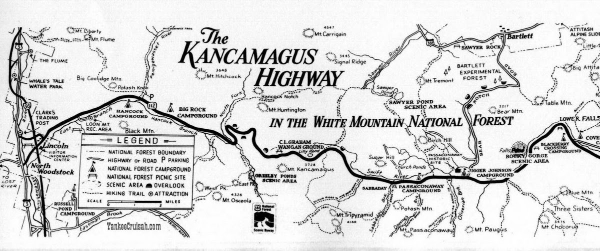 Kancamagus Highway Map Kancamagus Highway Photos: Kancamagus Hwy Map