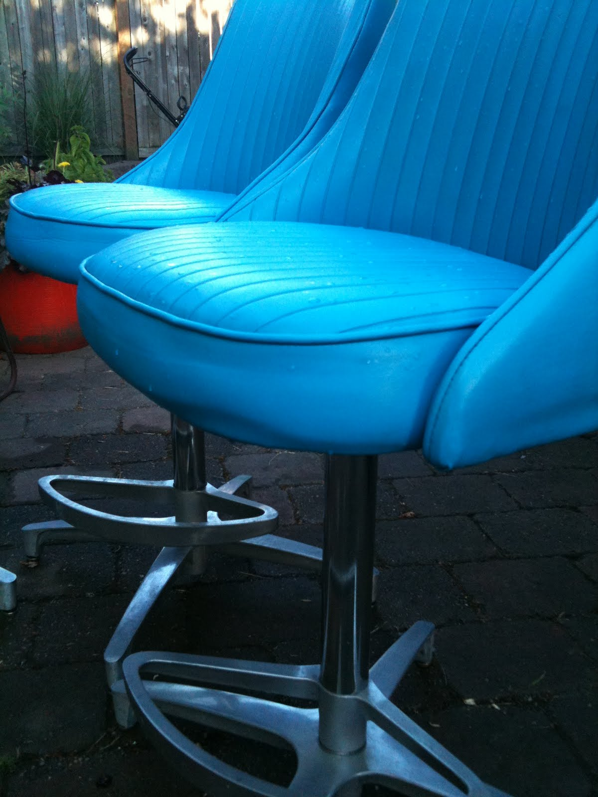 Seattle Junk Love Sold Mid Century Chromcraft Turquoise Barstools Set Of 3 300