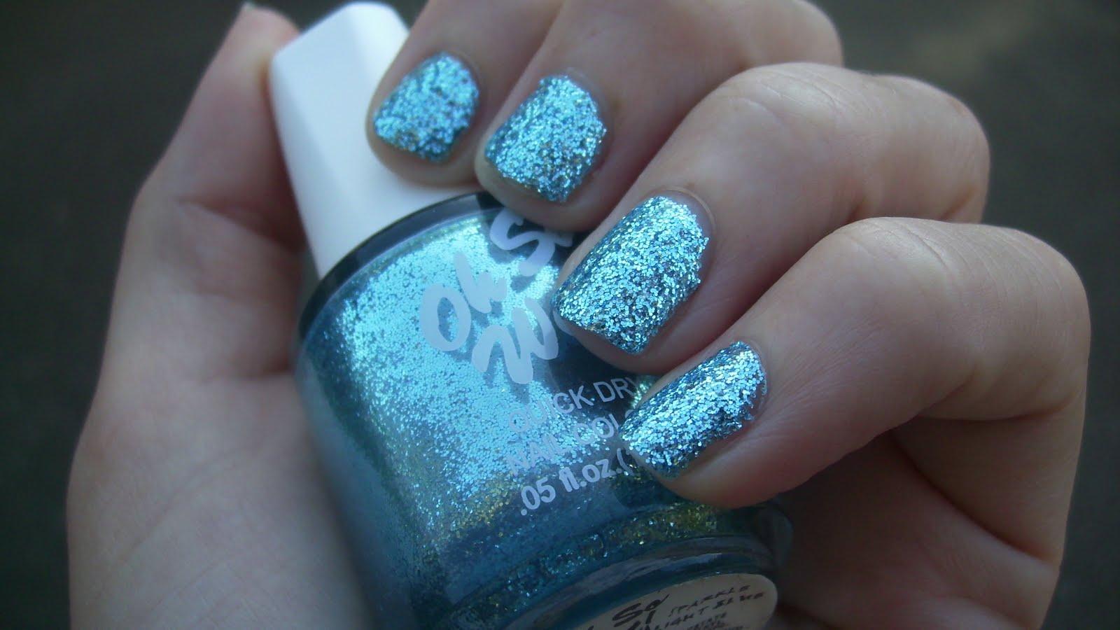 kitty luvs color!: oh so wet! nail polish, sparkle light blue