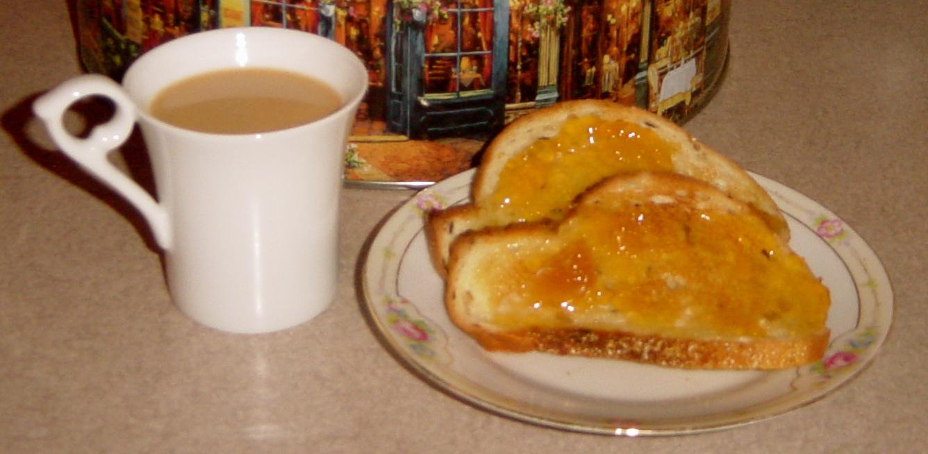 Lou Girl Plus Tea Peach Jam On Toast With Tea Good