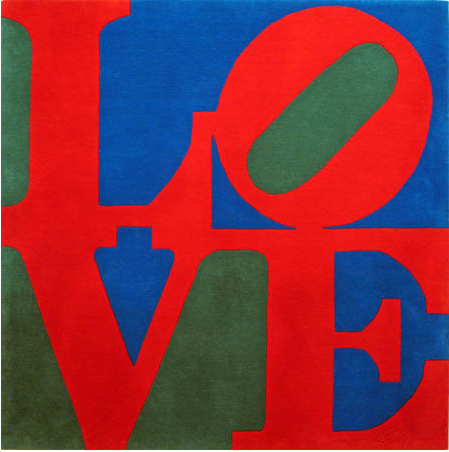 Robert Indiana LOVE rug