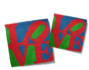Robert Indiana LOVE welcome mats