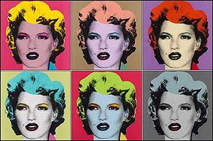 Banksy's Kate Moss Marilyn in Warhol's Style