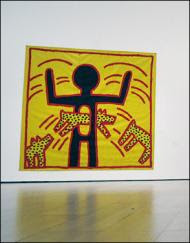 a painting by Keith Haring in Bonham's Urban Art sale
