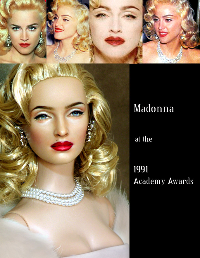 repainted madonna doll