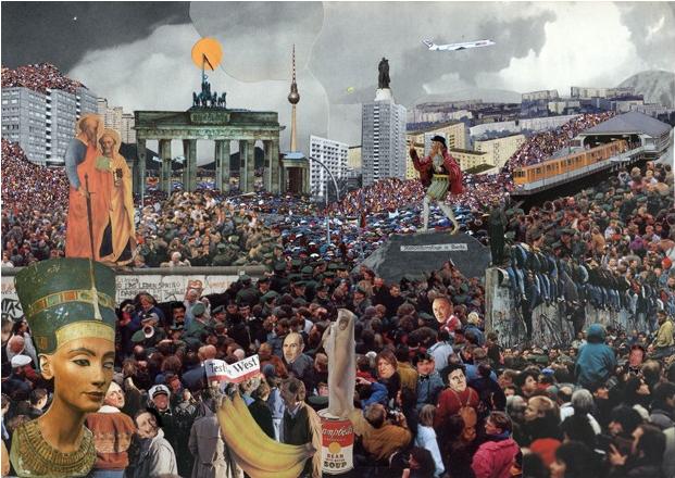 contemporary collage artist