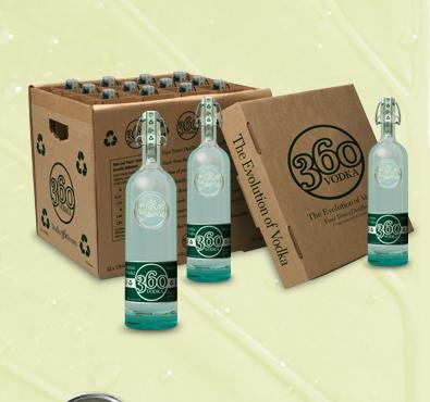 360 vodka pckg