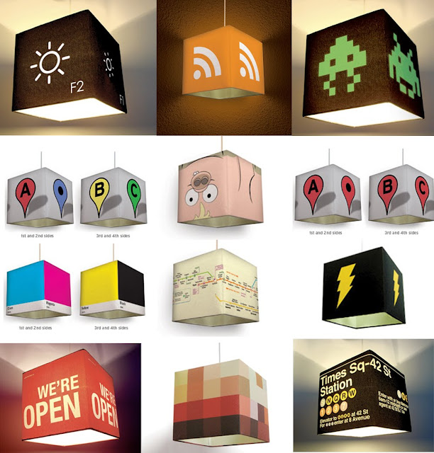Software Icon Pendant Lamps and Shades