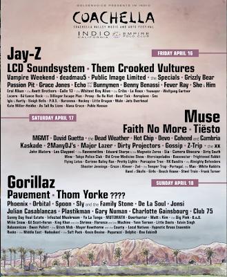 Coachella 2010 line up