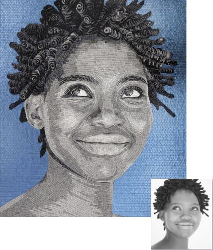 custom mosaic portraits on if it's hip, it's here