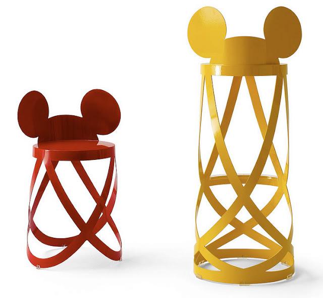 Cappellini and Walt Disney Signature ribbon stools
