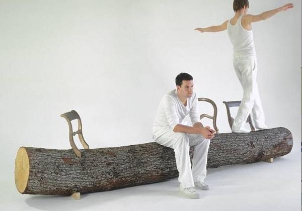 Jurgen Bey's tree trunk bench for Droog
